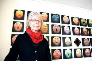 Clara Waller ställer ut akvareller på Järpens kulturhus.