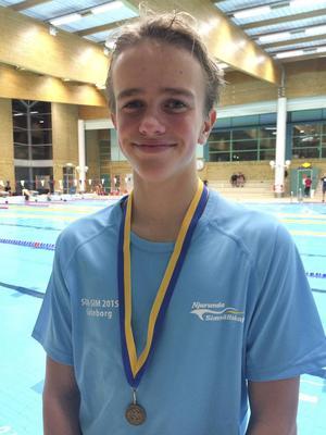 Njurundas medaljör Robin Björklund.