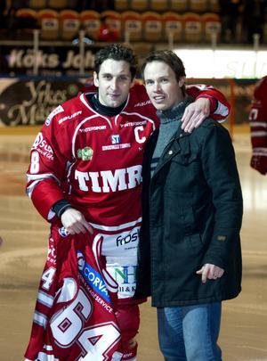 Robert Carlsson tillsammans med Per Hallin.