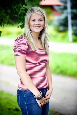 21-åriga Ida Engström från Borlänge kan bli Årets Viktväktare. På ett år har hon minskat 21 kilo i vikt. Foto:Johan Larsson
