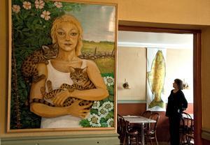Gun Sjödahls senaste målning är den på dottern Linda.