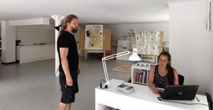 Desirée Kjellberg. Startade galleri tillsammans med Johan Ågren.