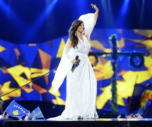 Carola agerade mellanakt under Eurovision i Malmö.