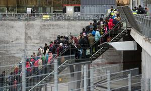 Flyktingar som anlänt Sverige.