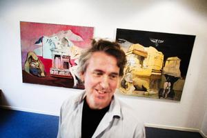 Per Sångberg ställer ut ett gripande måleri hos Bolin.
