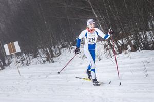 Lovisa Brink från Delsbo IF kom fyra i damernas sju-kilometerslopp.