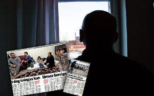 Montage. Faksimilerna är från 10, respektive 11 januari i år. Personen på bilden har inget med artikeln att göra. Foto: Sofie Lind