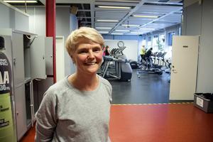 Lotta Näslund som i 40-års åldern har kommit igång med träning