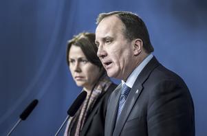 Vice statsminister Åsa Romson (MP) och statsminister Stefan Löfven (S).