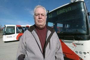 Busschauffören Stefan Berg från Edsbyn är mycket besviken efter försäkringskassans avslag.
