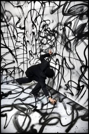 Från NUGs utställning på Konstakademin 2011. På lördag har han vernissage på Ahlbergshallen i Östersund.