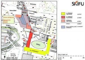 Så här ser förslaget ut på det nya universitetsområdet. Det handlar om en total utbyggnad på 8250 kvadratmeter varav en helt ny byggnad på 1400 kvadratmeter ska binda ihop kvarteret Grönborg med lärarhögskolan i kvarteret Förrådet. Kostnaden för ombyggnationen beräknas uppgå till 108 miljoner kronor.
