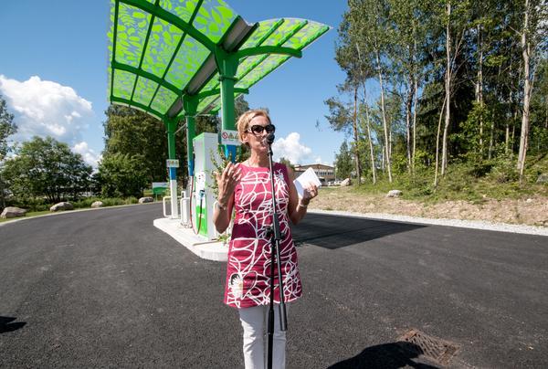Carina Färm, vd på Vafab Miljö, berättade under sitt tal att kommunalbolaget får 32 miljoner kronor av Naturvårdsverket för att bygga en till rötkammaren. Därmed kan produktionen av biogas ökas ytterligare.