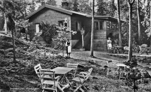 I Strandstugan vid nuvarande NSS kunde man fika fram till 1956, då kaféet lades ner.