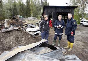 Catrin Sandgren, Mats Falkdalen och Bo Andersson var på plats för en teknisk undersökning