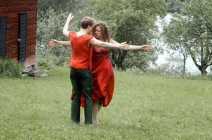 Dansföreställning vid Matsesgården.