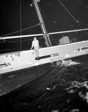 M/S Wästanvåg. Olle Mattsson, fotograf på Gefle Dagblad, blev ögonvittne när Wästanvåg sjönk utanför Eggegrund 1965.