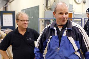 Rektor Hans Eriksson och klassföreståndaren Jörgen Hedman kan glädjas över att den nya utbildningen är efterfrågad.