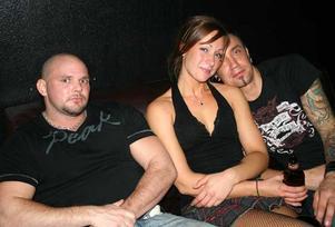 Blue Moon Bar. Mattias, Ulrika och Dennis