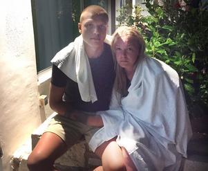 Västeråsarna Isak Bergh och Elvira Aas var på den grekiska ön Kos när jordbävningen ägde rum.
