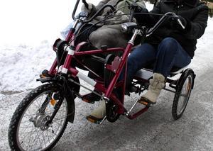 trehjulig cykel med elmotor