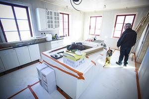 Köket har allt som ett kök på byggt 2014 ska ha.
