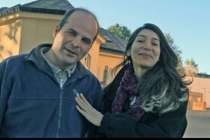 Ahmad Abu Al Shamat och hans fru Najlaa Obaid är lärare som flytt från krigets Syrien.