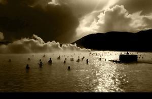Blå Lagunen på Island, segerbilden under årets Dala Digitalsalongen, fotograferad av Lars-Erik Boberg.