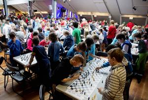 Förutom alla elever fanns volontärer från bland annat Wasaskolan och Rosenborgskolan på plats, liksom flera schackexperter som gav goda råd.