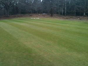 Ängsö Golfklubb öppnar lördagen den 10 april med sommargreener.Fotograf: Johan Widell (headgreenkeeper)