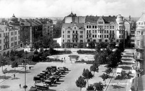 Plaskdamm. Redan på 1920-talet fanns en fontän på Järntorget.