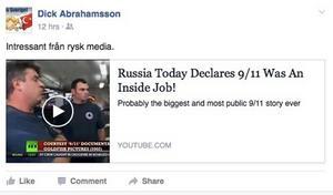 Här ges spridning åt en av teorierna som lanseras av den ryska propagandakanalen.