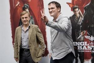 När regissören Quentin Tarantino i juli var i Sverige för sjunde gången hade han sällskap av Christoph Waltz som spelar en stor roll i