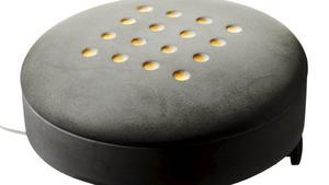 En fotpall med inbyggd värme