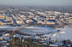 Snötäcke över Östersund. Foto: Catrin Molander
