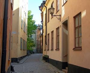 HORHUS. I huset till höger, Baggensgatan 23 i Gamla stan i Stockholm, låg Ahlströms jungfrubur som levererade prostituerade till riksdagen i Gävle 1792.