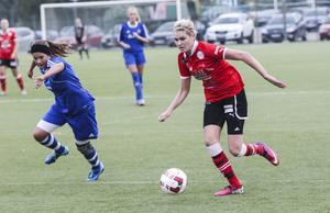 Karin Weinacht var Team Hudiks mest framträdande spelare när laget vann mot Heffnersklubban.