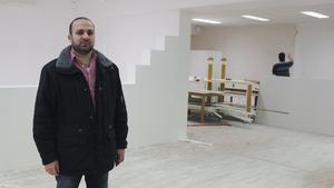 Samer Shbeeb har tidigare varit företagare i Syrien och kommer att driva två butiker på Liljanhusets bottenvåning.