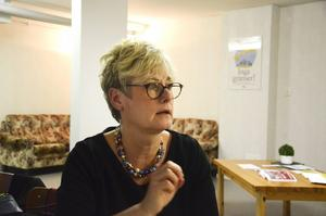 Marie Linder, förbundsordförande i Hyresgästföreningen, besökte Bollnäs för att diskutera bostadspolitik.