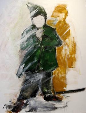 Målning visad på Galleri K 2014. Bild: Sanna Wikström