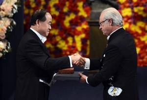 Mo Yan får Nobelpriset.