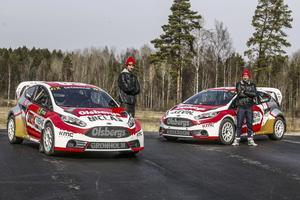 Nästa generation. Niclas Grönholm och Kevin Eriksson kör för Nynäshamnsbaserade OMSE i VM i år.