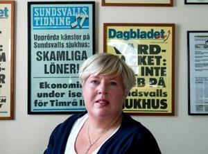 Vårdförbundsordförande Maria Bäckman tycker att det minsta man kan begära är att få betalt för sitt arbete.