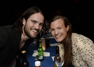 Robbin Sellin firade med flickvännen Ida Lundin.