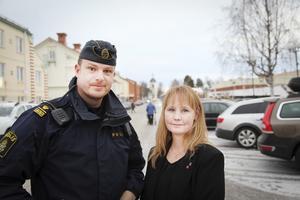 Polisen Jimmy Evans och kommunalrådet Susanne Hansson vill skapa ett tryggare Strömsund.
