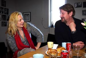 Lia Boysen och Rolf Lassgård var ett par i tv-serien