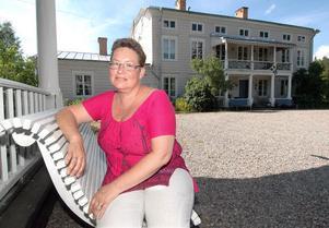 Katarina Jansson heter den här kvinnan som nu öppnar bed and breakfest i Svabensverks herrgård.
