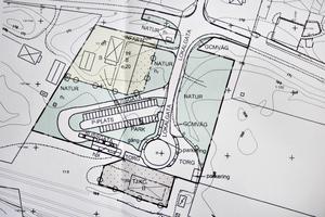 Området kring tågstationen i Robertsholm ska göras om helt. Kommunens ritningar.