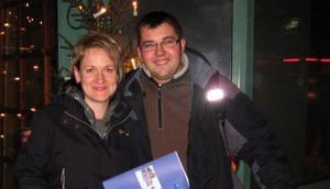 Vinnarna Claudia Schirmer och Lars Hahn på