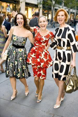 Charlotte, Carrie och Miranda i Sex and the City – en film full av New York-romantik.